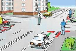Работа регулировщика на дороге