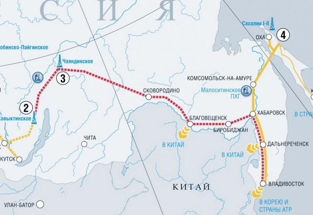 «Газпром» построит газопроводы в КНР на свои деньги