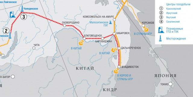 «Газпром» расширит газопровод с Сахалина