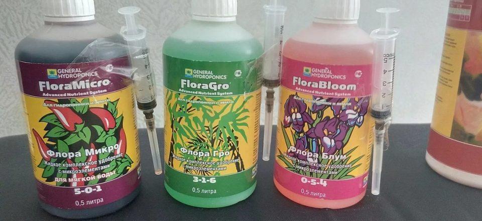 Набор удобрений GHE Flora Series SW от GrowBoom — распродажи сезона