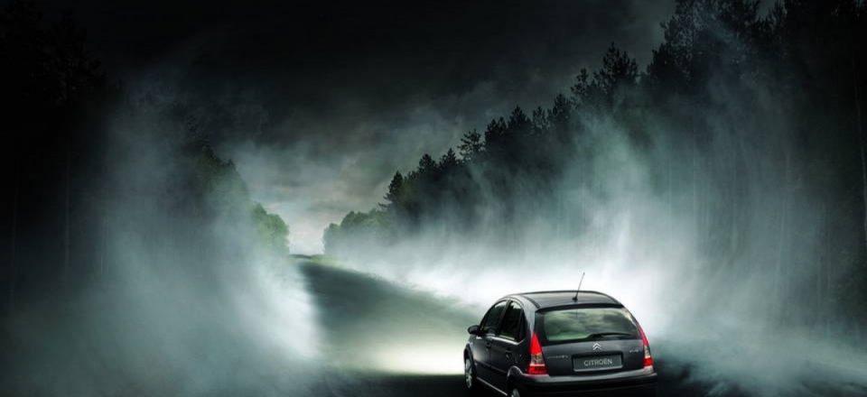 Как безопасно водить машину в тумане